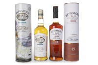 Lot 1018-BOWMORE DARKEST AGED 15 YEARS Active. Bowmore,...