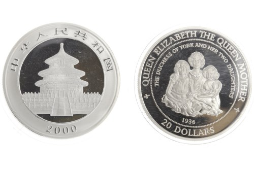 Lot 508-2000 CHINA SILVER PANDA COIN in capsule, 1 troy...