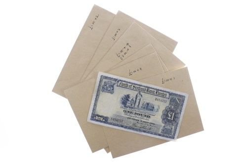 Lot 511-COLLECTION OF VARIOUS SCOTTISH £5 FIVE POUND AND...