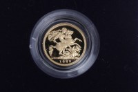 Lot 516-GOLD PROOF HALF SOVEREIGN DATED 1982 in capsule,...
