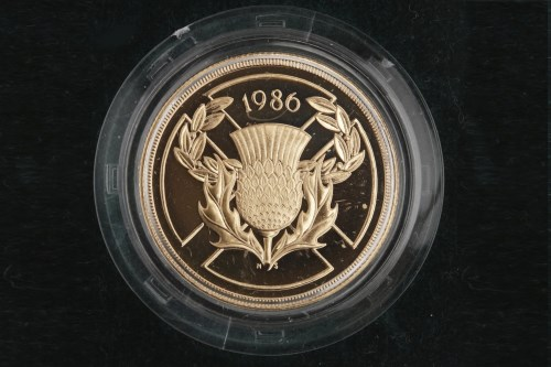 Lot 518-GOLD PROOF TWO POUND COIN DATED 1986 in capsule,...
