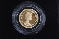 Lot 524-GOLD PROOF SOVEREIGN DATED 1979 in capsule, in...