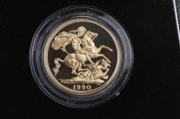Lot 525-GOLD PROOF DOUBLE SOVEREIGN DATED 1990 in capsule,...
