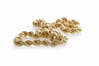 Lot 1-IMPRESSIVE ROPETWIST CHAIN NECKLACE 7mm wide,...