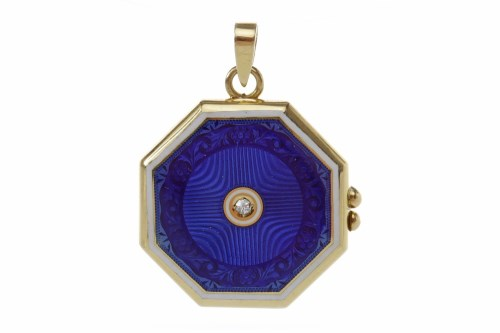 Lot 24-EARLY TWENTIETH CENTURY ENAMEL AND DIAMOND LOCKET ...
