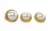 Lot 43-IMPRESSIVE PEARL DRESS RING WITH MATCHING...