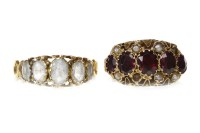 Lot 51-TWO VICTORIAN MULTI GEM SET 'GYPSY' RINGS one set ...