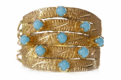 Lot 182-MID TWENTIETH CENTURY TURQUOISE DRESS RING the...