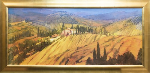 Lot 41-* PHILIP CRAIG, TUSCANY VIEW oil on board, signed ...