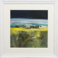 Lot 197 - MAY BYRNE, SUMMER MACHAIR mixed media on board,...