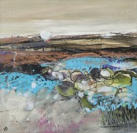 Lot 260 - MAY BYRNE, WINTER SKYLINE mixed media on...