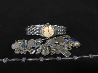 Lot 8-LOT OF SILVER JEWELLERY including a charm...