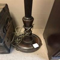 Lot 10-MAHOGANY STANDARD LAMP