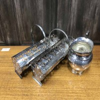 Lot 11-LOT OF SILVER PLATED WARES INCLUDING TRAY, TEA...