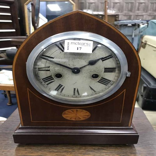 Lot 17-EDWARDIAN BRACKET CLOCK