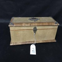 Lot 20-EARLY 20TH CENTURY RECTANGULAR CASKET along with...