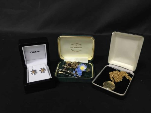Lot 34-LOT OF SILVER AND OTHER JEWELLERY including Ortak ...