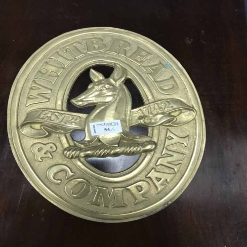 Lot 54-TWO WHITBREAD & COMPANY BREWERY PLAQUES one...