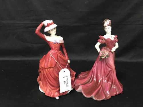 Lot 55-ROYAL DOULTON FIGURE OF MARY along with a...