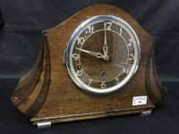 Lot 65-ART DECO MANTEL CLOCK