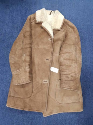 Lot 67-FUR JACKET along with two fur stoles and a sheep...