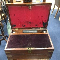 Lot 70A-VICTORIAN MAHOGANY PORTABLE WRITING DESK