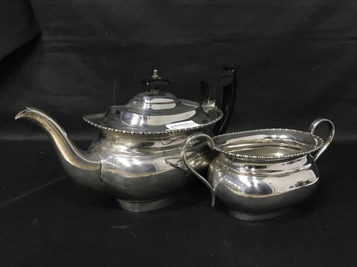 Lot 72-SILVER PLATED TEA SERVICE AND TRAY, along with...