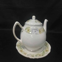 Lot 77 - DUCHESS 'GREEN SLEEVES' TEA SERVICE AND PART...