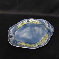 Lot 84-MINTON SECESSIONIST SHAPED OVAL TRAY decorated...