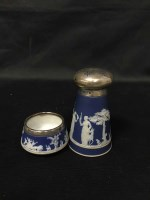 Lot 94-EARLY 20TH CENTURY SILVER TOPPED WEDGWOOD...