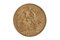 Lot 501-GOLD SOVEREIGN DATED 1900