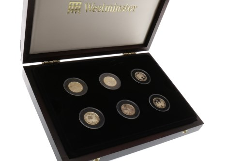 Lot 550-THE GOLDEN JUBILEE SIX GOLD COIN COLLECTION all...