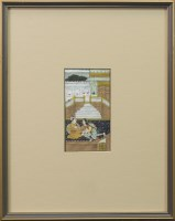 Lot 1009-20TH CENTURY MOGHUL SCHOOL STUDY OF TWO...