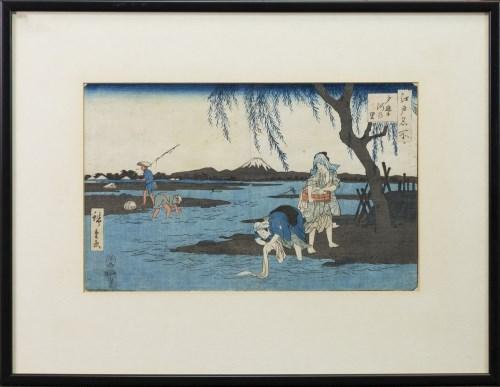 Lot 1019-HIROSHIGE (JAPANESE 1797 - 1858), FUJI...