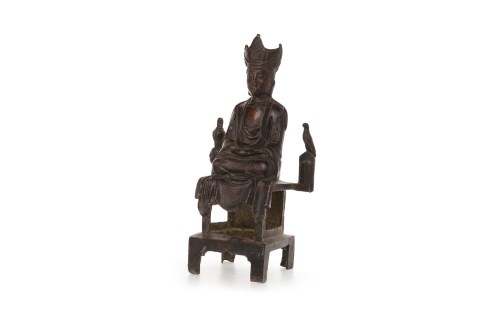 Lot 1040-20TH CENTURY CHINESE METAL WARE BUDDHA...