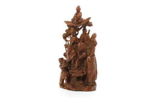 Lot 1047-20TH CENTURY CHINESE BOXWOOD CARVING deeply...