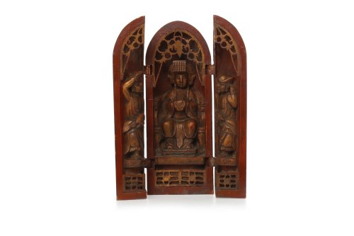 Lot 1053-20TH CENTURY JAPANESE LACQUERED WOOD SHRINE...