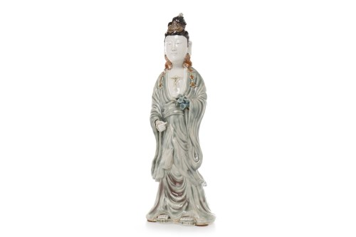 Lot 1070-20TH CENTURY CHINESE FIGURE OF GUANYIN modelled...