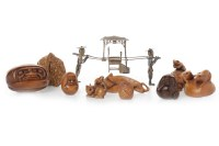 Lot 1086-COLLECTION OF 20TH CENTURY JAPANESE CARVED WOOD...