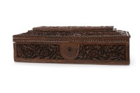 Lot 1088-EARLY 20TH CENTURY INDIAN SANDALWOOD CARVED BOX...