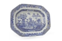 Lot 1105-EARLY 20TH CENTURY CHINESE BLUE AND WHITE ASHET...