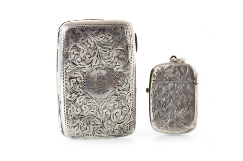 Lot 808 - EDWARD VII SILVER CIGARETTE CASE maker Joseph...
