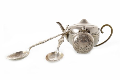 Lot 813-TWO EARLY 20TH CENTURY SILVER ANOINTING SPOONS...