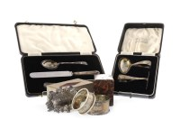 Lot 818-EARLY 20TH CENTURY BABY'S SILVER SPOON AND FOOD...