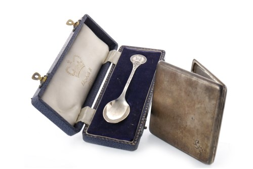 Lot 823-GEORGE V SILVER CIGARETTE CASE maker Sampson...