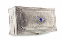 Lot 832-CONTINENTAL SILVER TRINKET BOX marked 800,...