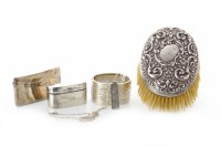 Lot 847-GEORGE V SILVER RING BOX maker William Aitken,...