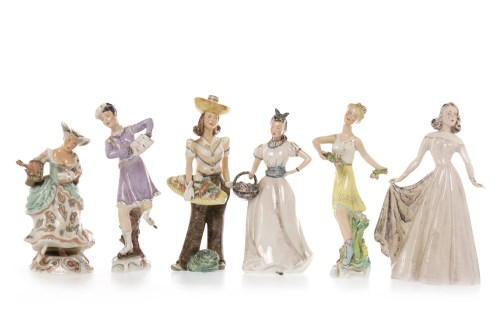 Lot 1205-SIX EARLY 20TH CENTURY WEDGWOOD & CO. FIGURES...