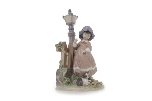 Lot 1228-LLADRO FIGURE GROUP OF A GIRL AND A CAT BY A...