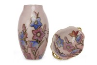 Lot 1242-CARLTON WARE 'HAREBELL' PATTERN VASE of oviform,...